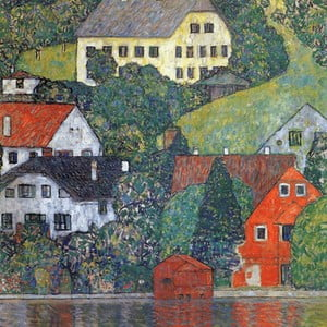 Reprodukcja obrazu Gustava Klimta - Houses in Unterach am Attersee, 60x60 cm