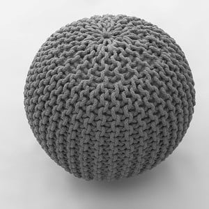 Srebrny puf Oval