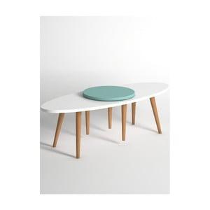 Niebiesko-biały stolik Monte Jenga