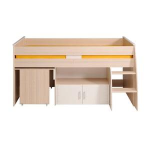 Wielofunkcyjne łóżko 1-osobowe w kolorze akacji Parisot Alleffra, 90x200cm