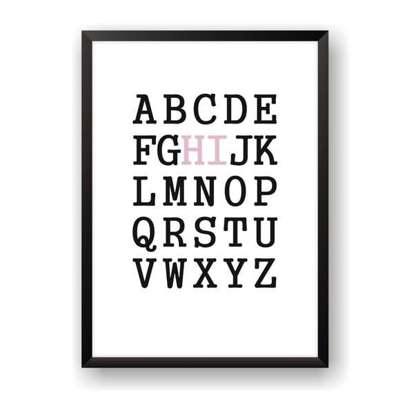 Plakat Nord & Co Hi Alphabet, 40 x 50 cm