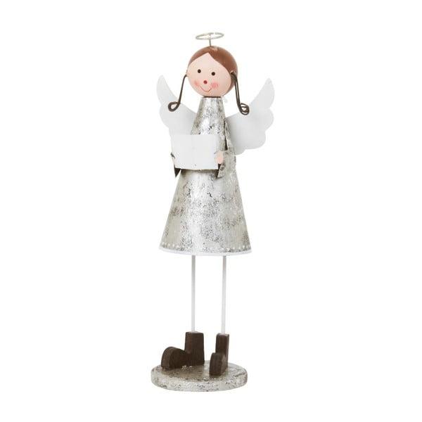 Dekoracja Archipelago Silver Singing Angel, 19 cm