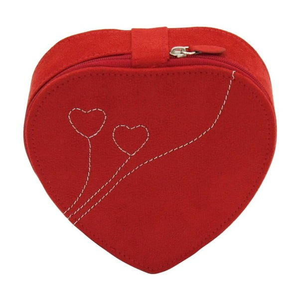 Szkatułka na biżuterię Friedrich Lederwaren Heart Red, 14x14x4,5 cm