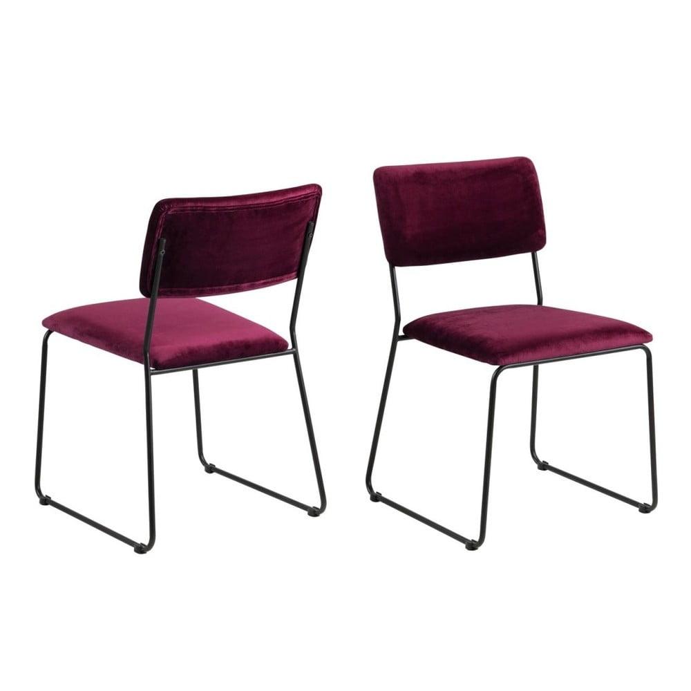 Krzesło w kolorze bordo Actona Cornelia