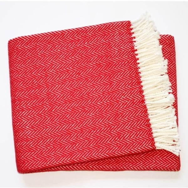 Koc Skyline Red, 140x180 cm