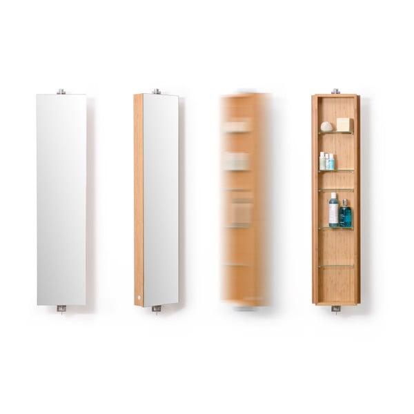 Lustro łazienkowe z szafką Wireworks Domain Bamboo, 110 cm