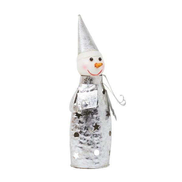 Świecznik Archipelago Silver Snowman, 35 cm