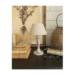 Biała lampa stołowa z drewna Orchidea Milano, 28 cm