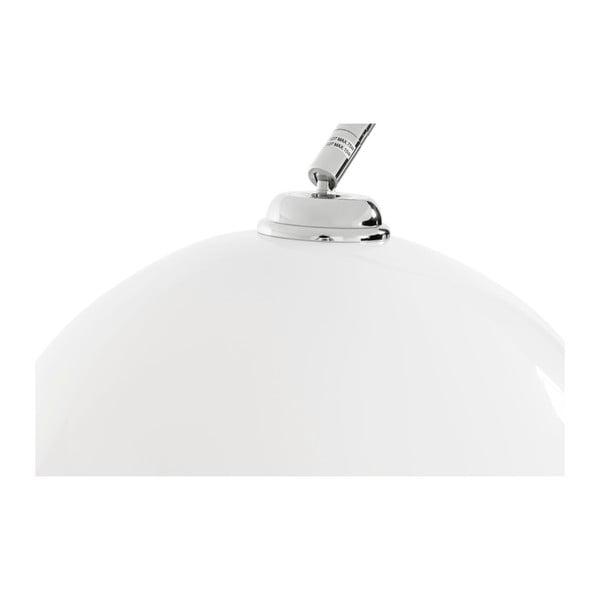 Stojąca lampa z białym abażurem i marmurową podstawą Kokoon Loft