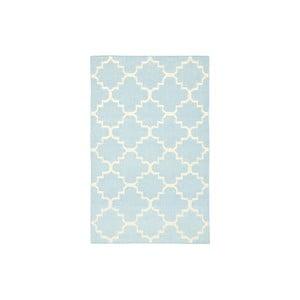 Wełniany dywan Darien 76x182 cm, jasnoniebieski