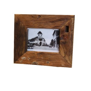 Ramka na zdjęcia z drewna tekowego HSM Collection Antique, 27 x 22 cm