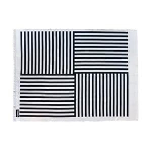 Dywan Lona Print 200x150 cm, czarny/biały