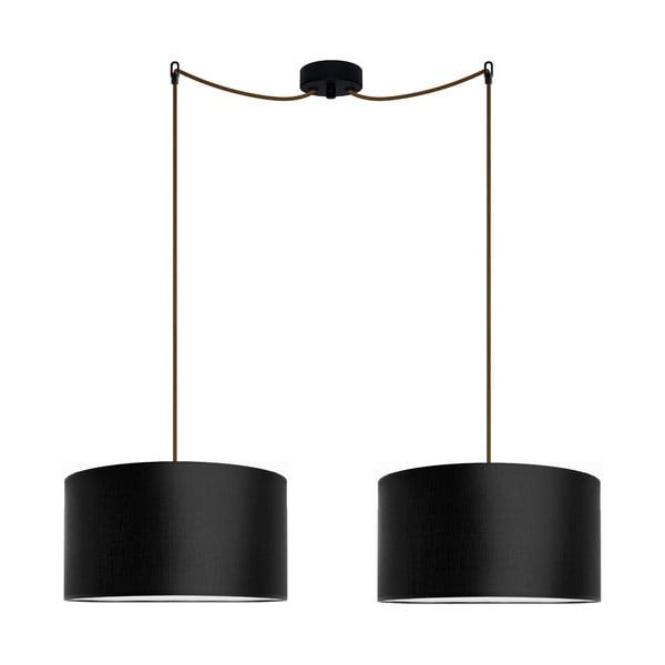 Czarna podwójna lampa wisząca Bulb Attack Tres, ⌀ 36cm