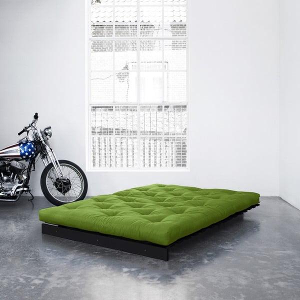 Sofa rozkładana Karup Roots Wenge/Lime