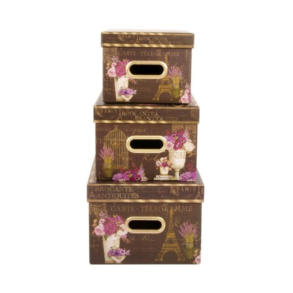 Zestaw 3 pudełek Brocante