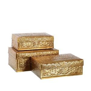 Zestaw 3 pudełek Golden Aluminium
