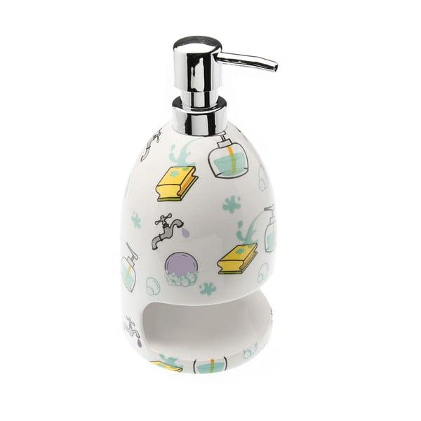 Dozownik na mydło z miejscem na gąbkę Splash