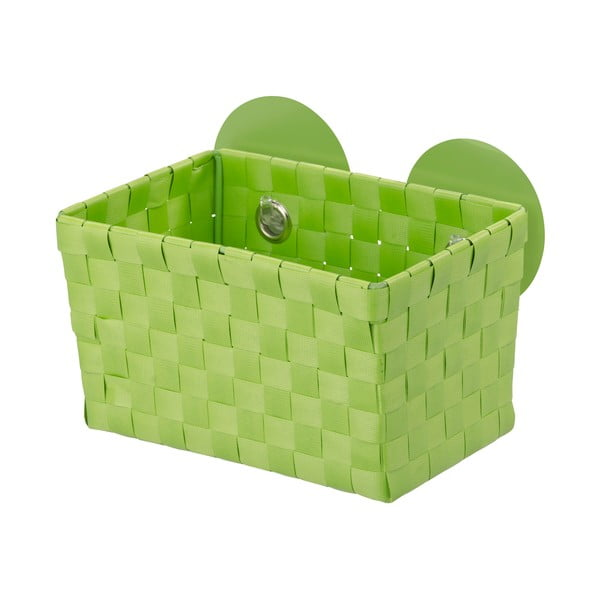 Zielony koszyk z przyssawkami Wenko Fermo