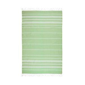 Zielony ręcznik hammam Kate Louise Classic, 180x100 cm