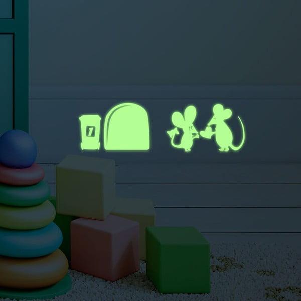 Naklejka świecąca w ciemności Little Mouses