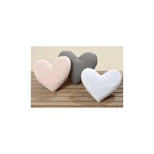 Komplet 3 poduszek Heart, 28x31 cm