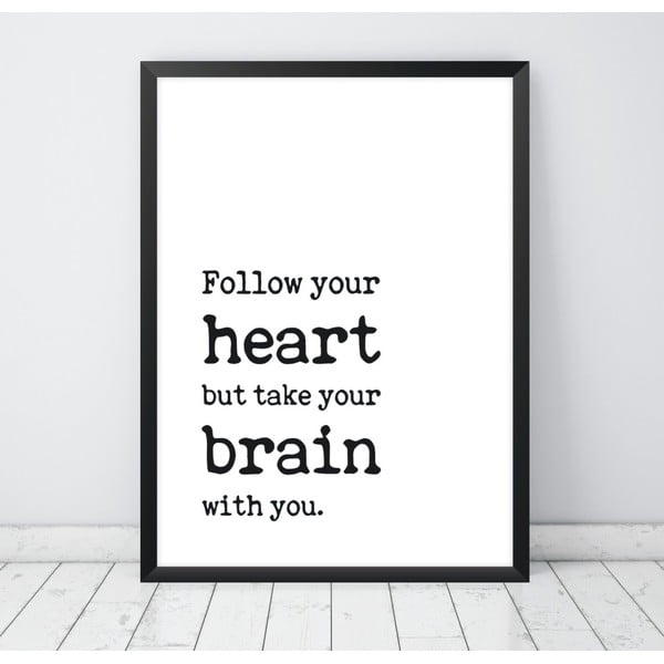 Plakat Nord & Co Follow Your Heart, 30x40 cm