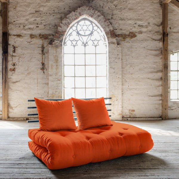 Sofa rozkładana Karup Shin Sano Black/Orange
