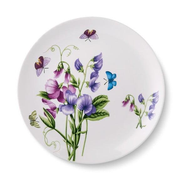 Zestaw 6 porcelanowych talerzy Violet, ⌀ 24 cm