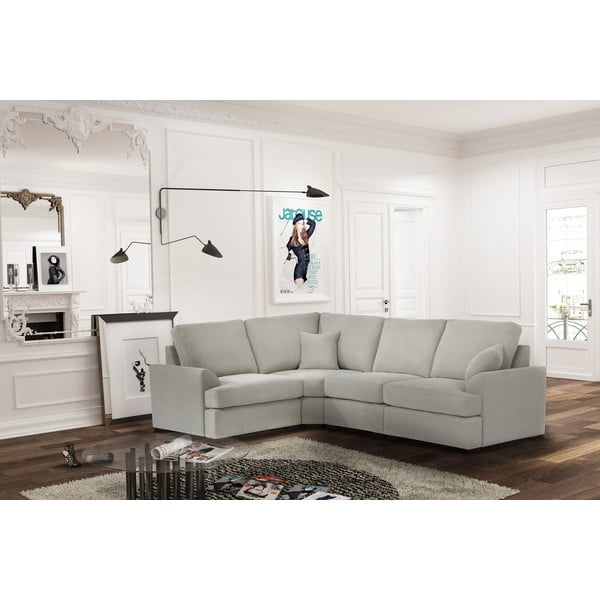 Sofa narożna Jalouse Maison Irina, lewy róg, kremowa