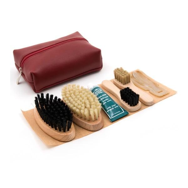 Zestaw do czyszczenia butów Cepi 510, kolor bordowy