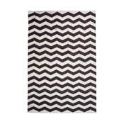 Bawełniany dywan Chevron Ivory/Black, 160x230 cm