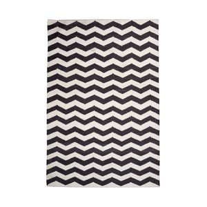 Bawełniany dywan Chevron Ivory/Black, 120x180 cm
