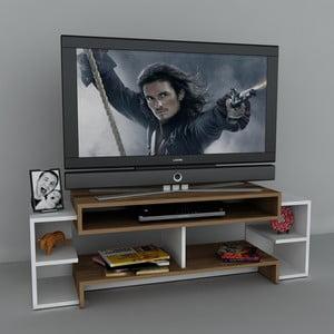 Stolik telewizyjny Libra White, 29,5x140x46,8 cm