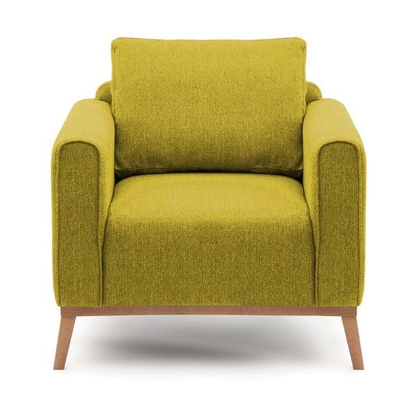 Limonkowy fotel VIVONITA Milton