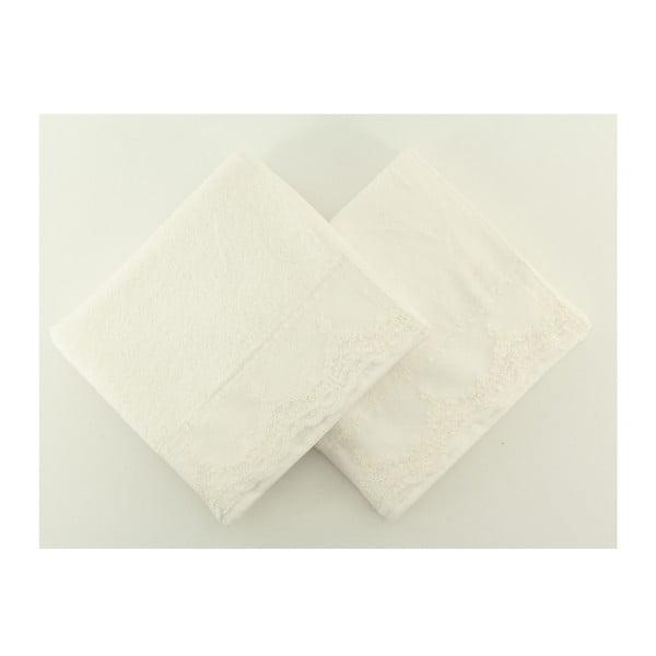Komplet 2 ręczników Almeda Cream, 50x90 cm