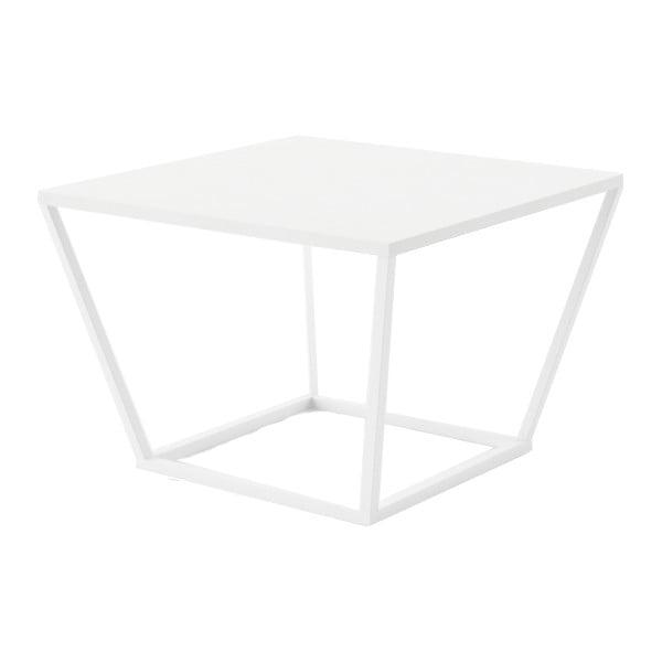 Biały stolik z marmuru z białą konstrukcją Absynth Noi Brazil, mały