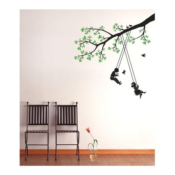 Naklejka Children Swinging in a Tree