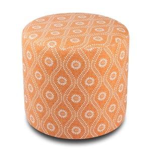 Pomarańczowy puf okrągły Justina