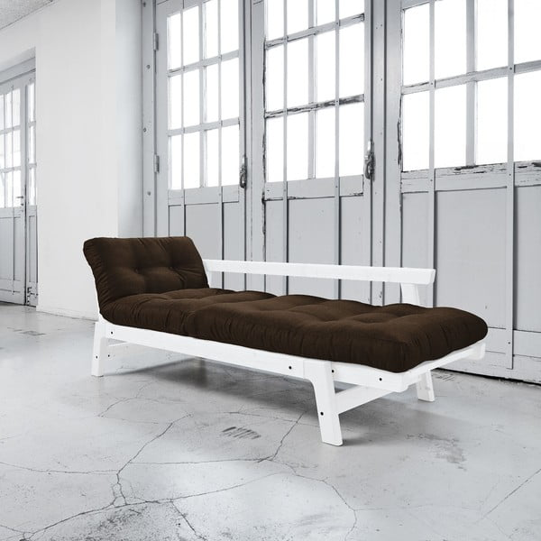 Sofa rozkładana Karup Step White/Choco Brown