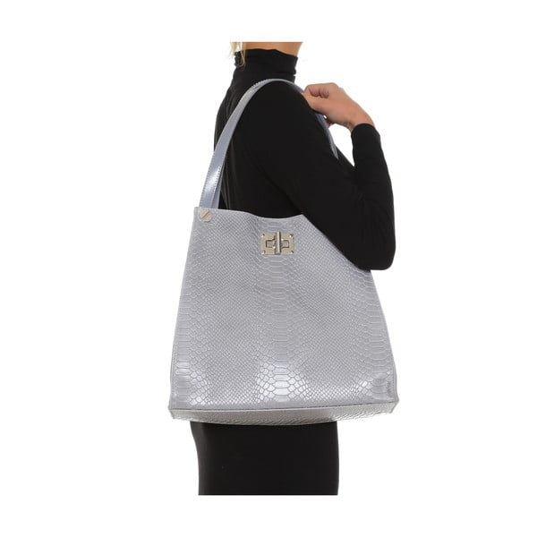 Skórzana torebka Anna Luchini 8038 Grigio