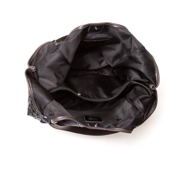 Skórzana torebka Carla Ferreri 838 Nero