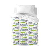 Bawełniana pościel dziecięca z poszewką na poduszkę Mr. Fox Hippo, 100x120 cm
