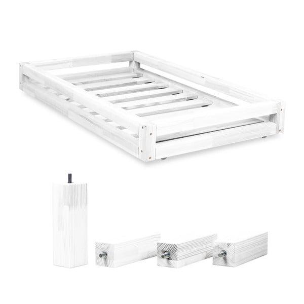 Komplet białej szuflady pod łóżko i 4 dodatkowych nóg Benlemi,do łóżka80x160cm
