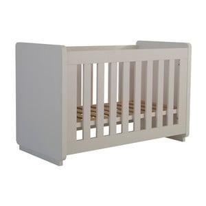 Białe łóżeczko dziecięce Núvol Edurne, 60x120cm