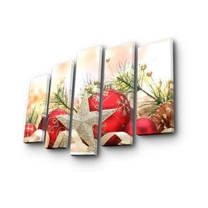 Obraz pięcioczęściowy Christmas no. 3, 105x70 cm