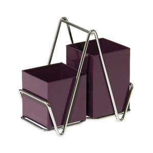 Stojak na sztućce Caddy Purple