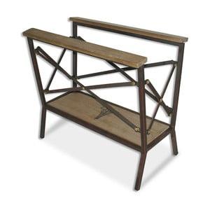 Stojak na gazety Iron Wood, 46x25x42 cm