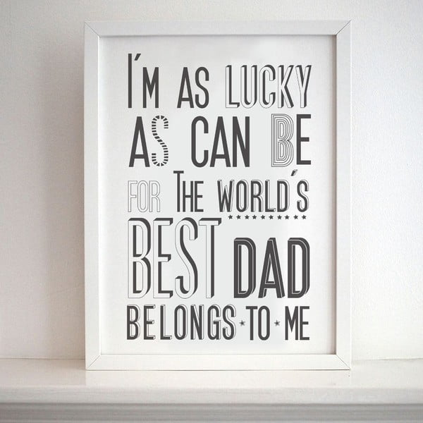 Plakat Best Dad, 30x40 cm
