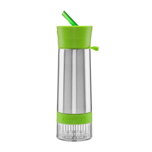 Butelka na wodę i owoce Aquazinger, zielona