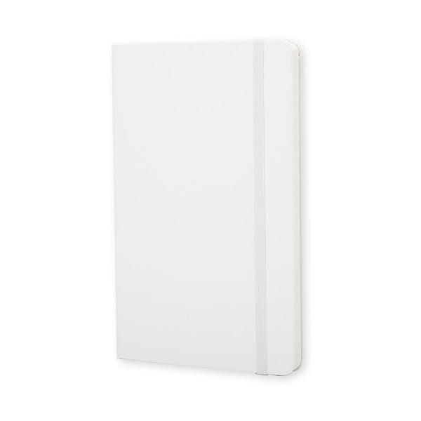Biały notes Moleskine Hard, mały, strony w kratkę